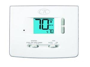 Supco 62100N Wall Thermostat, Up to 2 Heat/1 Cool Conventional or Heat Pump S...