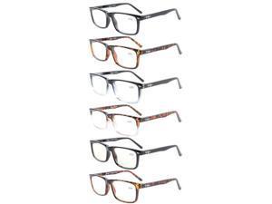 Eyekepper 6-Pack Readers Spring Hinges Reading Glasses Included 2-Pack Computer Glasses +1.0