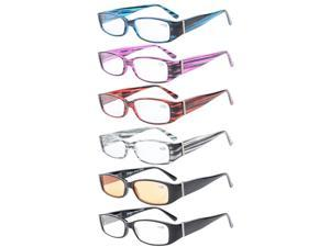Eyekepper 6-Pack Spring Temple Readers Include Reading Glasses Computer Glasses with Genuine Austrian Crystals Women +3.5