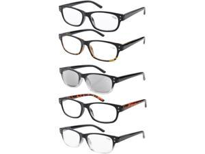 Eyekepper 5-pack Spring Hinges Vintage Reading Glasses Includes Sunglasses Readers +1.50