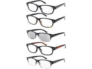 Eyekepper 5-pack Spring Hinges Reading Glasses Includes Sunglasses Readers +1.50