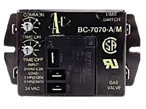 A-1 Components BC7070 Time Delay Blower Control BC-7070-A/M