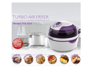 LIDORE 8-Modes Oil-Less Air Fryer.Lavender colored type,10L,1400W. Package with 6 Cooking Accessories