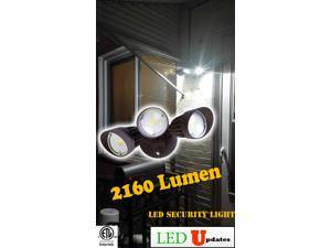 30w Outdoor LED flood Light security wall pack light with 3 Adjustable light head