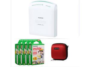 FUJIFILM INSTAX SHARE SMARTPHONE PRINTER SP 1 WITH 80 SHOTS AND CASE(RED) KIT