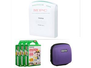 FUJIFILM INSTAX SHARE SMARTPHONE PRINTER SP 1 WITH 60 SHOTS AND CASE(PURPLE) KIT