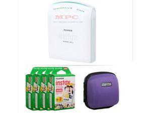 FUJIFILM INSTAX SHARE SMARTPHONE PRINTER SP 1 WITH 80 SHOTS AND CASE(PURPLE) KIT