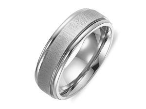 Gemini Men's or Women's Matt & Polish Anniversary Wedding Titanium Ring width 4mm US Size 7.5 Valentine's Day Gift