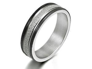 Gemini Women's Muti Tone Promise Anniversary Couple Wedding Titanium Ring width 4mm US Size 11 Valentine's Day Gift