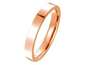 Gemini Flat Court Comfort Fit Rose Gold Couple Titanium Wedding Ring width 4mm US Size 7.25 Valentine's Day Gift
