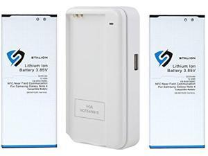 Note 4 Battery: Stalion® Strength Replacement 3220mAh Li-Ion Battery 2X Batteries + Power Travel Battery Charger with USB Port for Samsung Galaxy Note 4 SM-N910