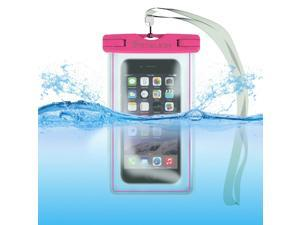 Waterproof Case Bag: Stalion® Sports Universal Water Safe Pouch (Fuchsia Pink) for All iPhone 6 6s Plus Samsung Galaxy S7 S6 Edge+ Note 5 iPod Touch HTC One M9 and other smartphones