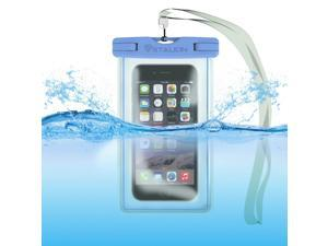 Waterproof Case Bag: Stalion® Sports Universal Water Safe Pouch (Cyan Blue) for All iPhone 6 6s Plus Samsung Galaxy S7 S6 Edge+ Note 5 iPod Touch HTC One M9 and other smartphones