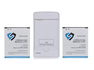 Galaxy S3 Battery: Stalion® Strength Replacement 2100mAh Li-Ion Battery 2X Batteries + Power Travel Battery Charger with USB Port for Samsug Galaxy S3 SIII