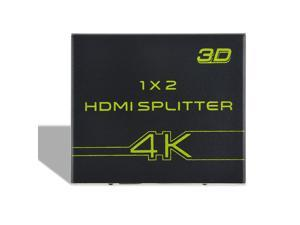 ABLEGRID® HDMI splitter amplifier 1X2 HDMI 1.4 with Full Ultra HD 4K/2K and 3D capable for PS3 Xbox Blu-ray Cable Box