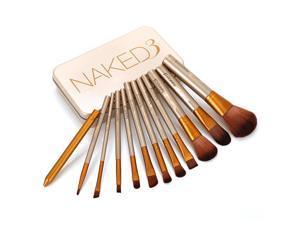 12 pcs NAKE 3 Naked Kit De Pinceis De Pinceaux Maquillage Maquiagen Pincel Makeup Brushes Set Kit Styling Tools for Make Up