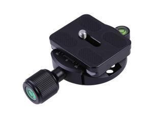 QR-55 Quick Release Clamp Round Clamp with PU-50 QR Plate for Tripod Ball Head Arca Compatible for Breno 5D2