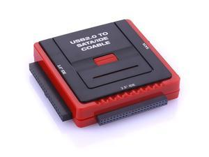 """USB 2.0 to SATA & IDE Cable Adaptor for 2.5"""" & 3.5"""" HDD Hard Disk Drive with USB Power Cable 888U2IS"""