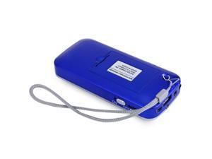 L-088 Blue Mini Portable Speaker MP3 Audio Music Player Stereo FM Radio Loudspeaker with Flashlight USB AUX TF Card MP3 Music Player