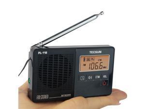 TECSUN PL-118 Radio DSP FM Radio Stereo Portable Professional Radio Receiver ETM Clock Alarm Black