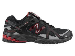 New Balance SureGrip Mens 570 SG Black/Red Trail Running Athletic Slip Resistant Work Shoes 9.5M