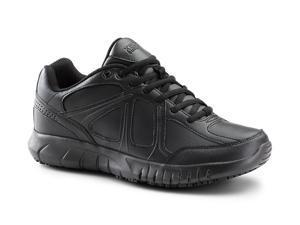 Keuka SureGrip Womens Galley Black Athletic Slip Resistant Work Shoes 9.5M