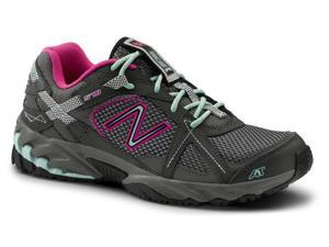 New Balance SureGrip Womens 570 SG Grey/Pink/Lt. Blue Trail Running Athletic Slip Resistant Work Shoes 6.5M