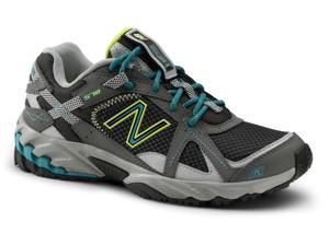 New Balance SureGrip Womens 570 SG Grey/Teal/Yellow Trail Running Athletic Slip Resistant Work Shoes 11M
