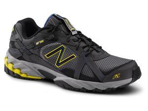 New Balance SureGrip Mens 570 SG Grey/Yellow/Blue Trail Running Athletic Slip Resistant Work Shoes 7.5W