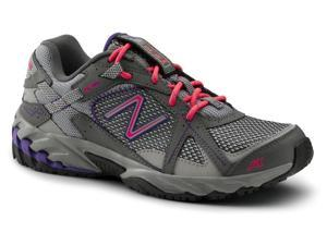 New Balance SureGrip Womens 570 SG Grey/Purple/Pink Trail Running Athletic Slip Resistant Work Shoes 8.5M