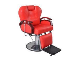 ExacMe All Purpose Hydraulic Salon Beauty Spa Shampoo 8705 Red Barber Chairs