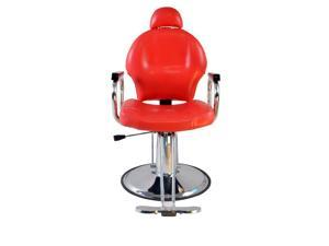 ExacMe Reclining Recline Hydraulic Barber Chair Salon Beauty Spa Shampoo Red 9838