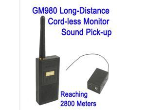 Long-Distance Cord-less Monitor Audio Bug Spy Gadget GM980 with Ultra Range Wireless Transmission