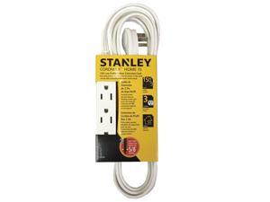 STANLEY CordMax Home 15 White, 15ft 3-Outlet Low Profile Extension Cord