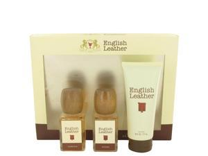 ENGLISH LEATHER by Dana for Men - Gift Set -- 3.4 oz Cologne Splash + 3.4 oz After Shave + 6 oz Body Wash