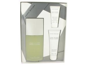 L'EAU D'ISSEY (issey Miyake) by Issey Miyake for Men - Gift Set -- 4.2 oz Eau De Toilette Spray  + 2.5 oz Shower Gel + 1 oz After Shave Balm