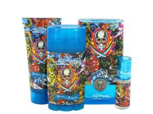 Ed Hardy Hearts & Daggers by Christian Audigier for Men - Gift Set -- 3.4 oz Eau De Toilette Spray + 3 oz Shower Gel + 2.75 oz Deodorant Stick + .25 oz Mini EDT Spray
