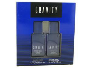 GRAVITY by Coty for Men - Gift Set -- Two 1.7 oz Cologne Sprays