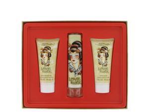 Love & Luck by Christian Audigier for Women - Gift Set -- 1.7 oz Eau De Parfum Spray + 3 oz Body Lotion + 3 oz Bath & Shower Gel