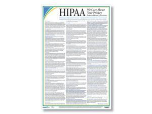"""HIPAA Notice of Privacy Practices Poster (Patient Poster), Laminated, 12"""" x 18"""" - 1 per Pack"""