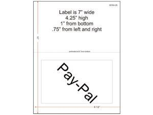 """7"""" x 4-1/4"""" (7"""" x 4.25"""") Integrated Laser Label Form Sheets, 1 Label (Carton of 1500)"""