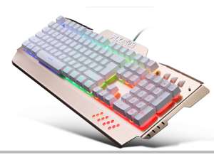 FLXE X100 LED Backlit Wired Membrane Gaming Keyboard, Mechanical-Similar Typing/Gaming Experience RGB Mechanical Gaming Keyboard+Wired Mouse Kit