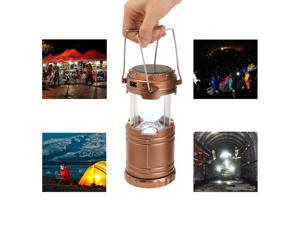 Outdoor Solar Power Camping Portable Lantern Rechargeable Emergency Light