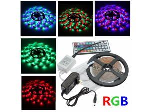 5M 300LEDs RGB 3528 LED Light Strip 44 Key IR Remote Controller Christmas Decor