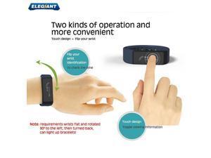 ELEGIANT D6 Plus IP67 Waterproof Bluetooth Pedometer Tracking Sleep Monitor Smart Wristband Bracelet For Samsung HTC Sony Nokia Andriod Smart Phones-Blue