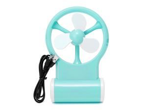 Portable Flexible Mini Cooling Fan Cooler Operated Computer USB - Blue