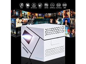 DOOGEE P1 DLP Andriod 4.4 WIFI Wireless 1080P Portable LED Pocket Projector HD Home Cinema Beamer White