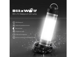 BlitzWolf BW-LT5 IP68 Waterproof LED Lamp Light 2600mAh Powerbank Emergency Camping Light