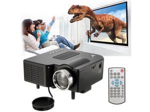 Mini LED Video Projector 1080P Home Cinema Theater AV/VGA/USB/SD/HDMI -US Plug