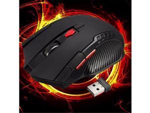 2.4GHz 6D 3000DPI USB Wireless Optical Gaming Mouse Mice For Laptop Desktop PC-Black